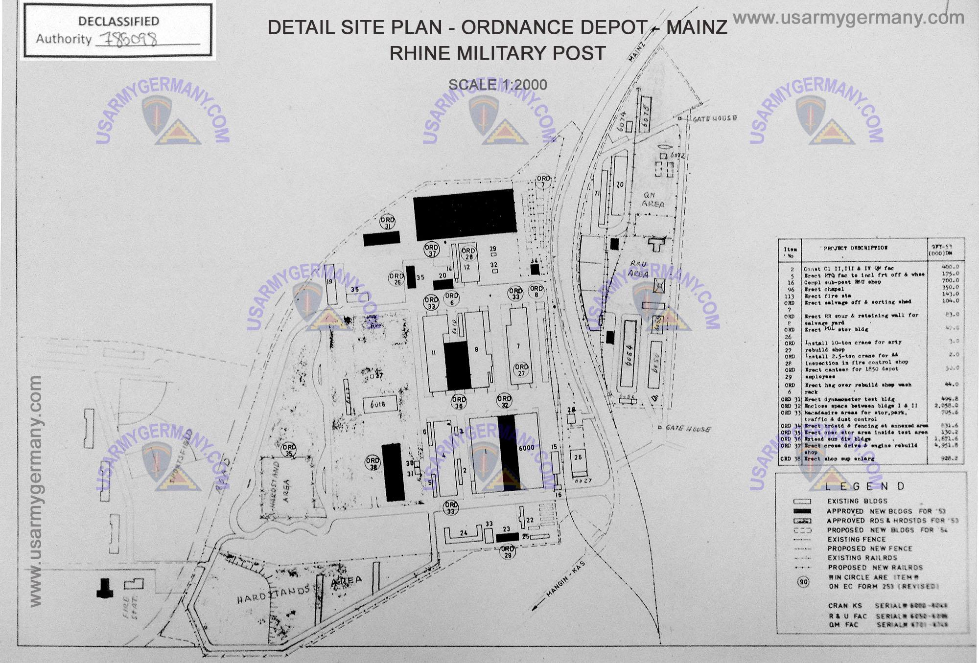Usareur Installation Maps Mainz Depot