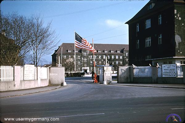 Neu-Ulm Germany  City pictures : Main gate, Old Wiley Barracks, Neu Ulm, early 1950s Chuck Charnquist