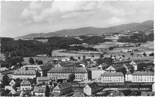 Donau Kaserne, Deggendorf - pre-WWII postcard