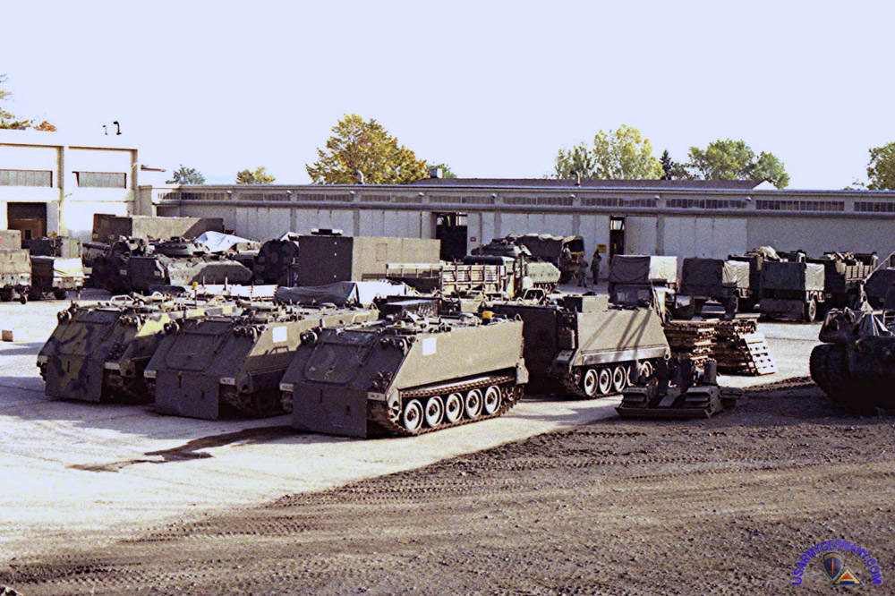 Fulda Germany  City new picture : 1st Squadron motor pool at Downs Barracks, Fulda in 1987.