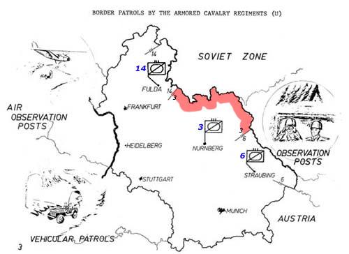 USAREUR Units Kasernes - Us armor unit map