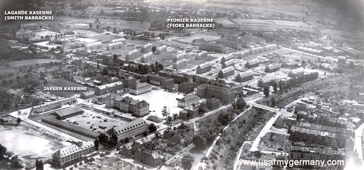 Usareur Aerial Photos Aschaffenburg 1950