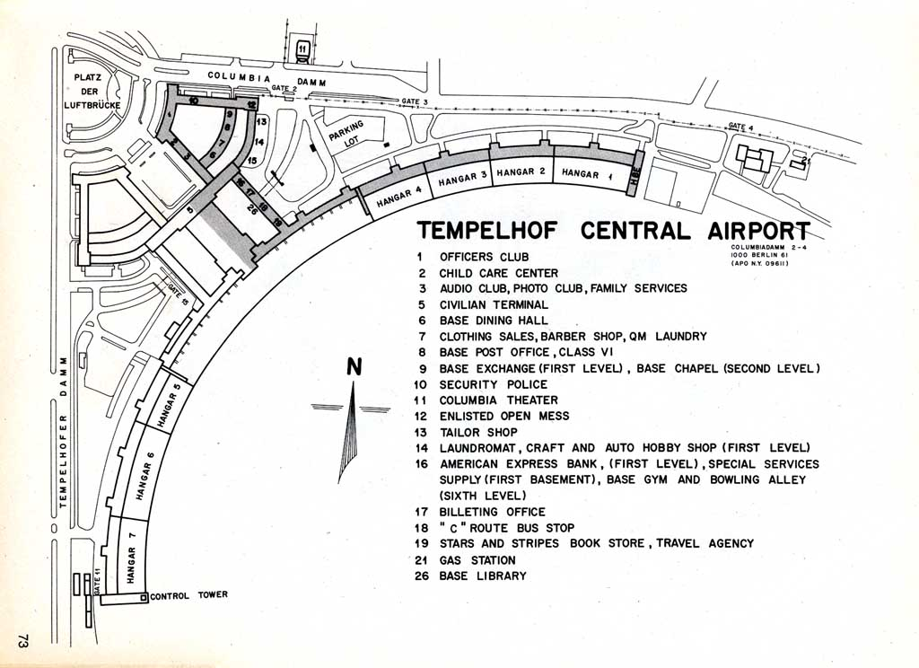 usareur installation maps tempelhof 1985. Black Bedroom Furniture Sets. Home Design Ideas