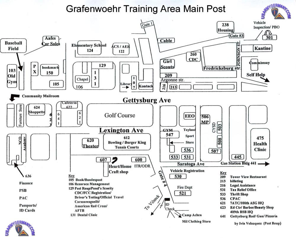 USAREUR Units Kasernes - Germany map grafenwoehr