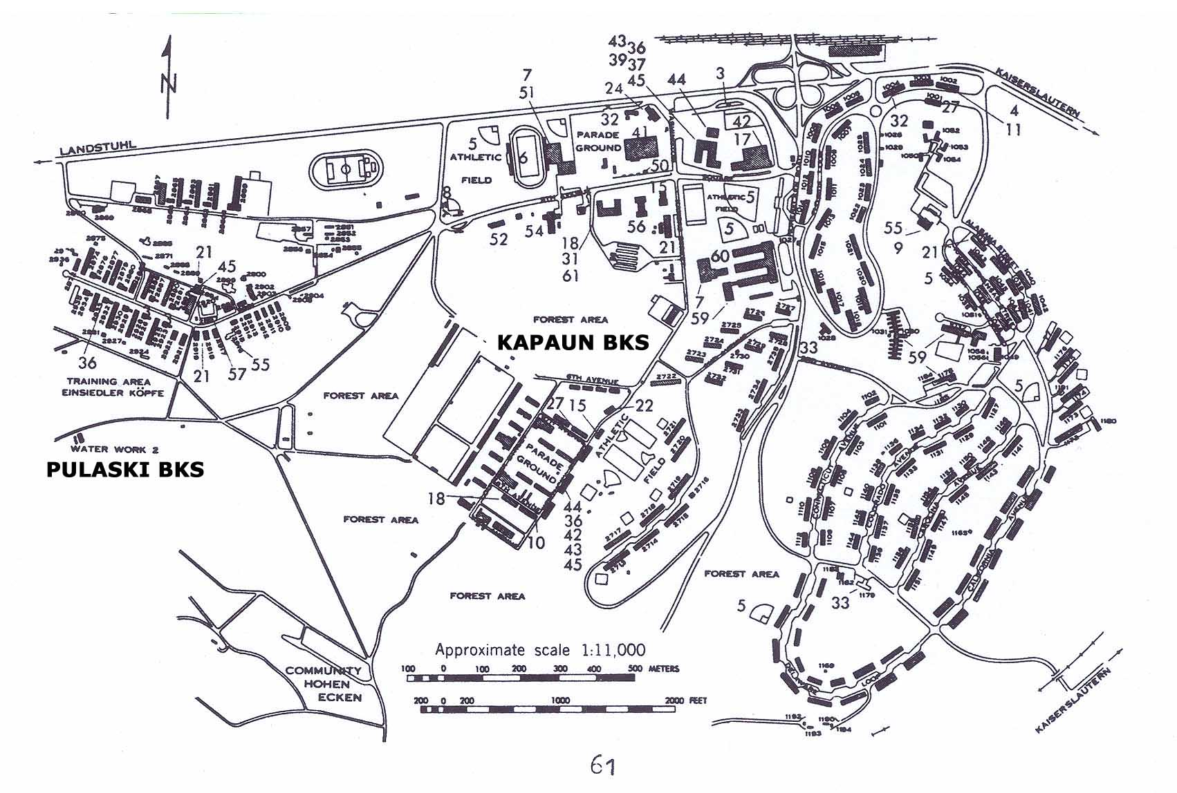 USAREUR Installation Maps - Pulaski and Kapaun late 1970s