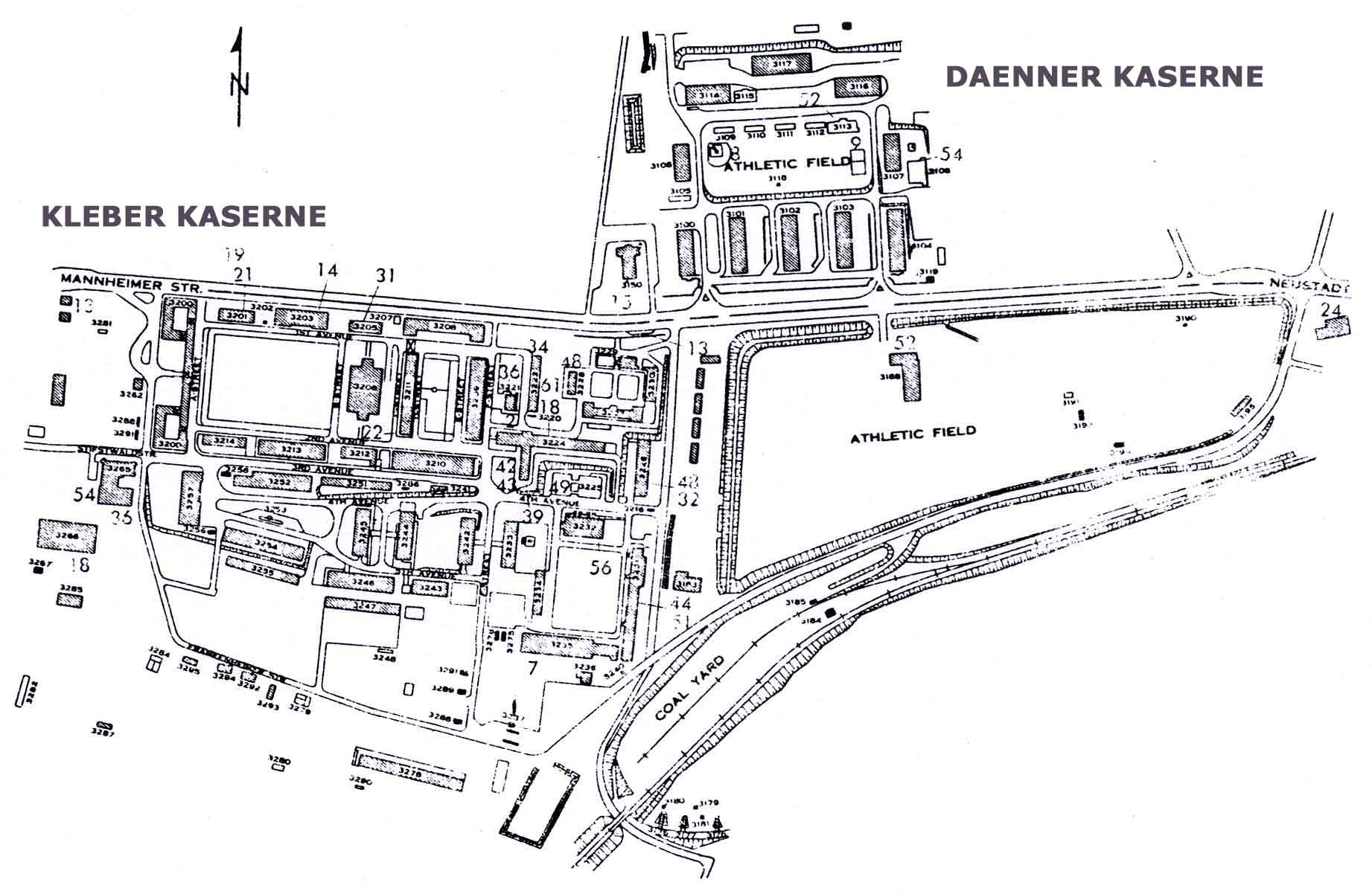 Usareur Installation Maps Kleber And Daenner Late 1970s