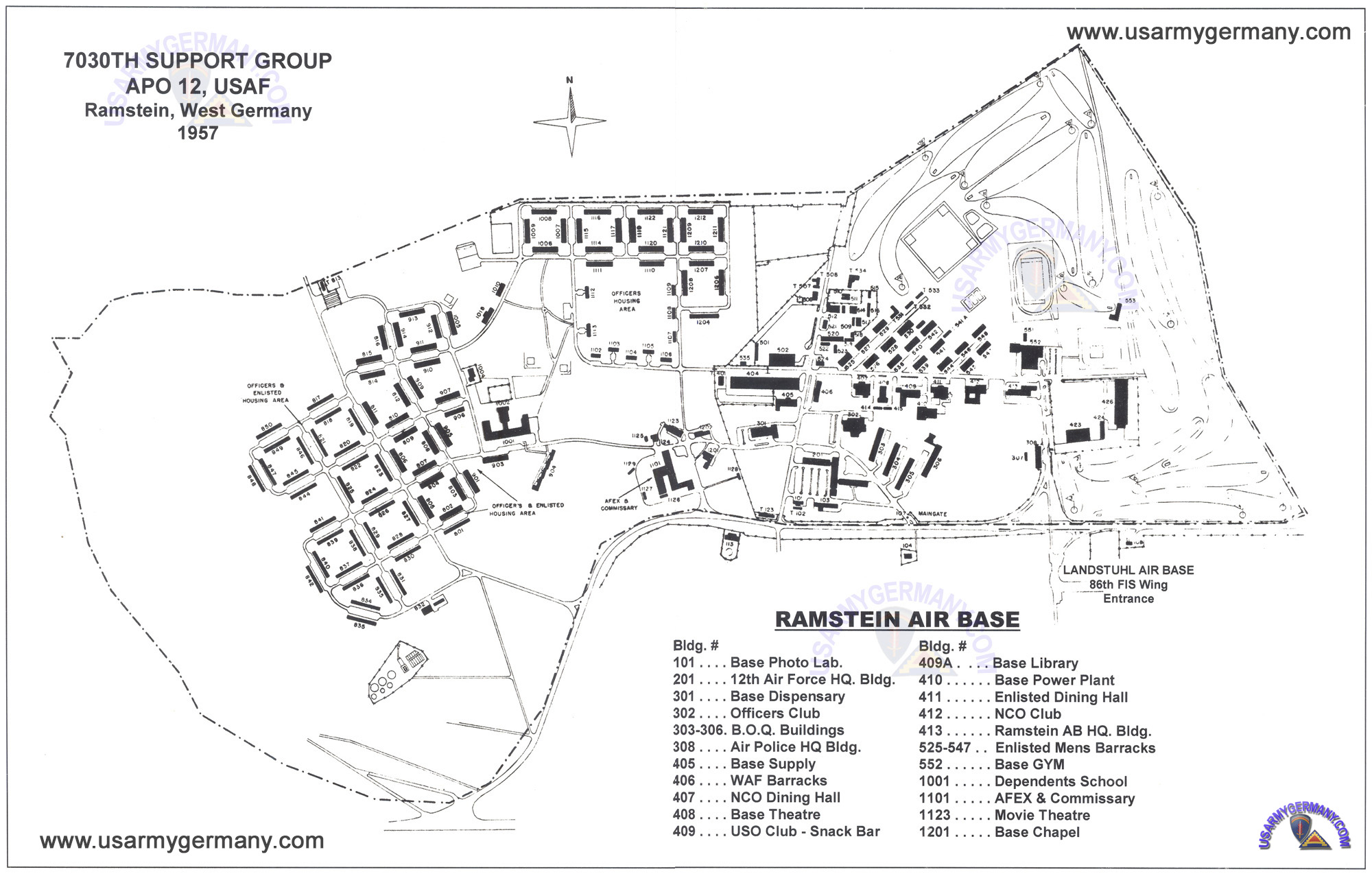 USAREUR Installation Maps - Ramstein AB