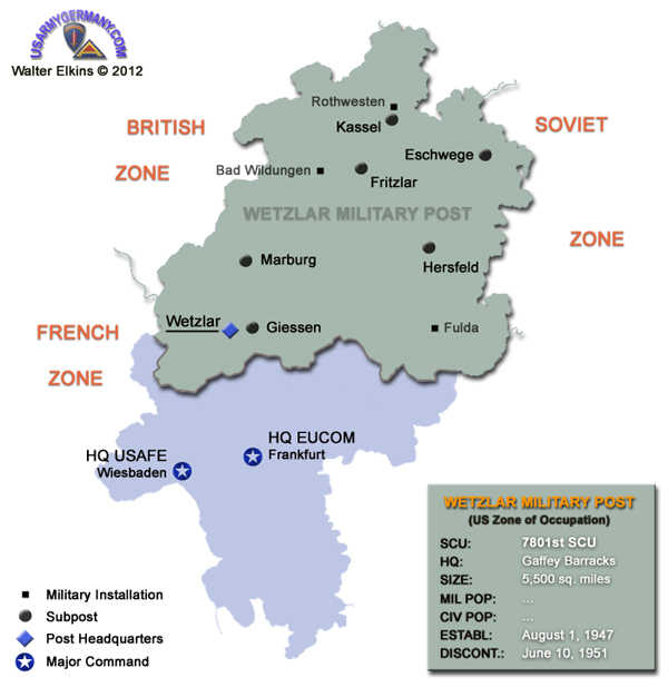 USAREUR Units Kasernes - Us military bases in germany map