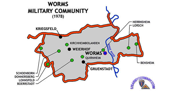 USAREUR Units Kasernes - Germany map us army bases