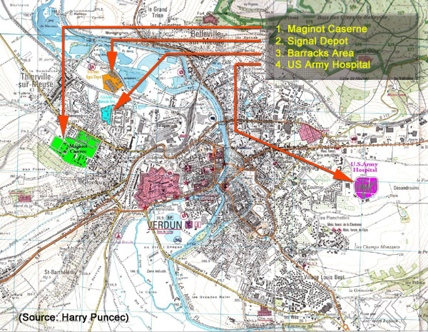 Us Army Installations In Verdun 1960 Source Harry Puncec