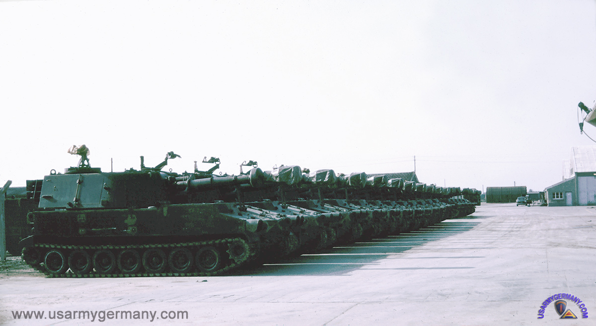 usareur partial photos th sig bn c company 447th signal battalion 1970 source tom horn self propelled artillery vehicles at the pomcus site on neureut kaserne